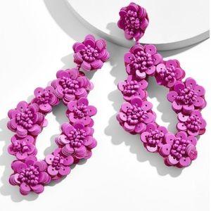 baublebar // sequin flower statement earrings